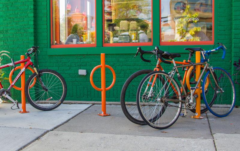 bike hitch dero rack ring bicycle