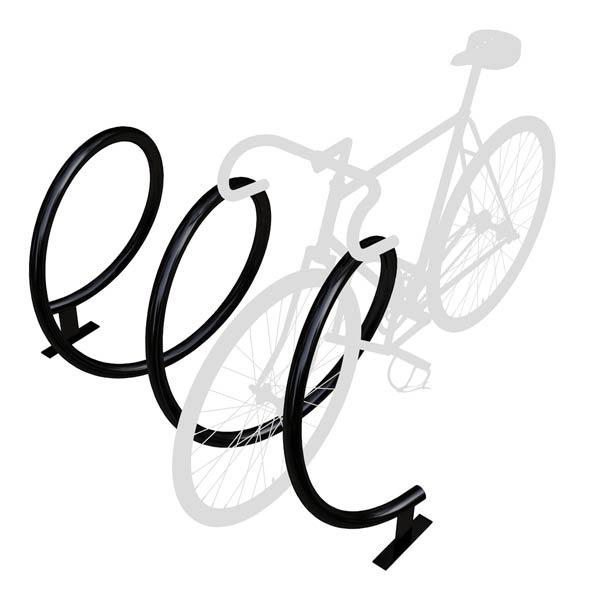 Dero Helix Rack Spiral Shaped Bicycle Rack