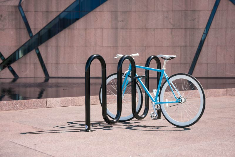 Dero Rolling Rack Wave Style Bicycle Rack